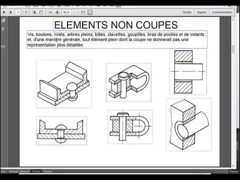 les coupes cours de dessin industriel partie 13 youtube. Black Bedroom Furniture Sets. Home Design Ideas