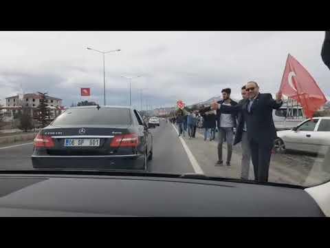 Saadet Partisi Genel Başkanı Temel Karamollaoğlu  Kayseri Konvoyu