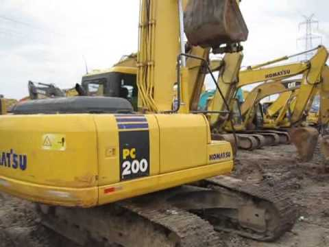 รถแบคโฮมือสอง KOMATSU PC200 สภาพรถเยี่ยม 090-268-2646