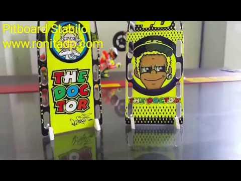 Miniatur Pitboard Rossi Stabilo Skala 1:12