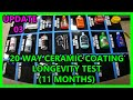 UPDATE 03: 20 way Ceramic coating synthetic wax longevity test Perfection Correction LLC