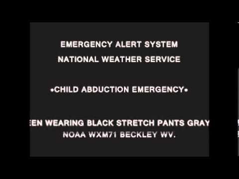EAS-CHILD ABDUCTION 3/12/2013 ALERT WV.