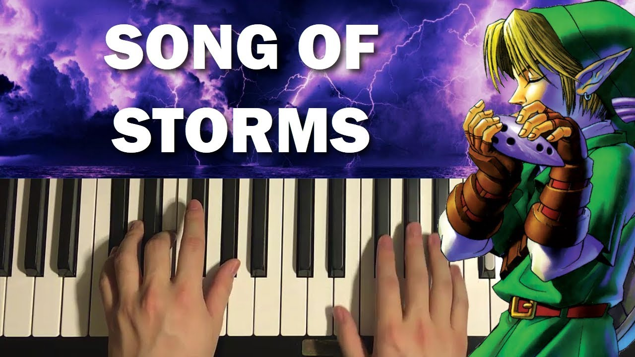 how to play song of storms on piano