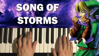 HOW TO PLAY - Zelda - Song Of Storms (Piano Tutorial Lesson)