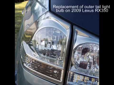 2009 Lexus Rx350 Tail Light Bulb Replacement Youtube