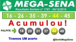 RESULTADO MEGA SENA - 1767 - 05/12/2015 - sábado - SorteMegaSena