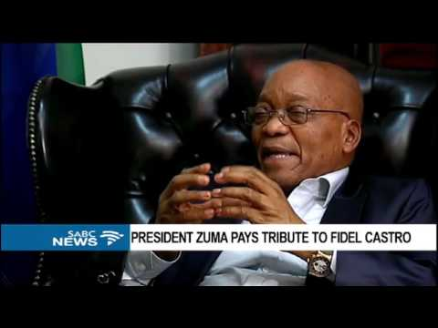 INTERVIEW: Pres. Zuma speaks fondly about the late Fidel Castro