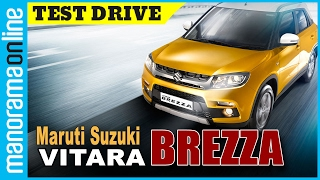 Maruti Suzuki Vitara Brezza | Test Drive | Interior & Exterior Features Review | Manorama Online(Maruti Suzuki's all new model Vitara Brezza has been one of the most awaited compact SUVs ever since its concept form was unveiled in 2012. This test drive ..., 2016-03-17T06:03:01.000Z)