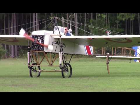 Bleriot XI-2 Engine Start and Taxi