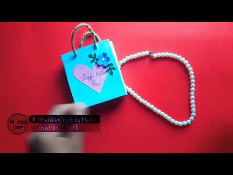 DIY How to Make Paper Bag    Mothers Day's Ideas    Gift For Mom 🎁
