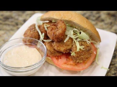 How To Make Fried Shrimp Po'boys!