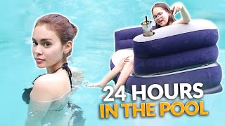 24 HOURS SWIMMING POOL CHALLENGE! | IVANA ALAWI