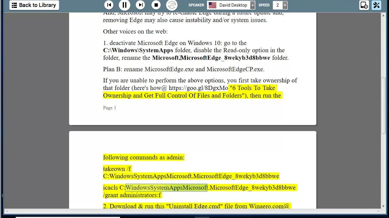uninstall microsoft edge windows 10 phone