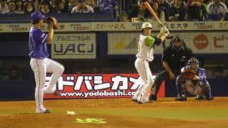 2018年4月21日 東京ヤクルト - 横浜DeNA  三嶋投手 4回裏の投球【Yokohama db専用動画複製・転用禁止】