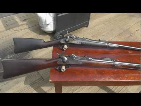 My 1873 and 1884 Trapdoor rifles and the differences between them.wmv