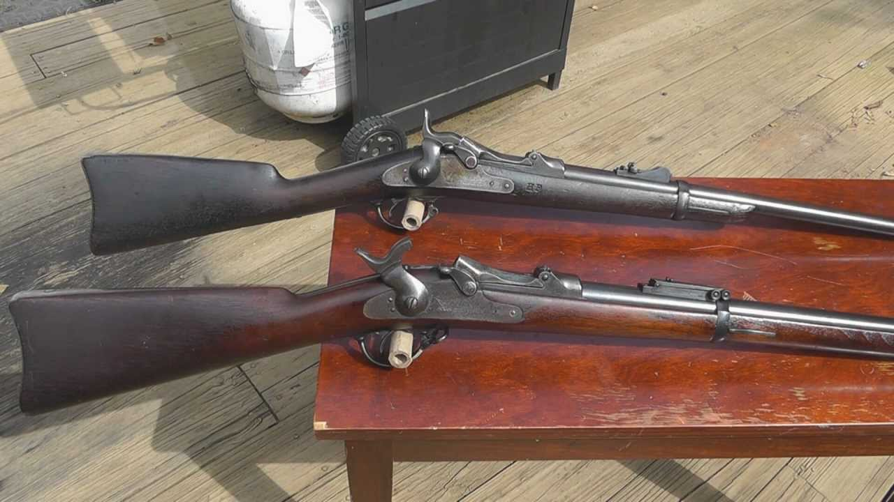 My 1873 And 1884 Trapdoor Rifles And The Differences