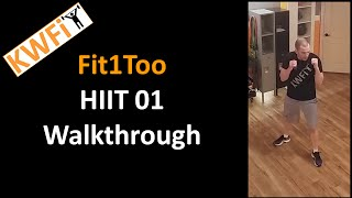 KWFit - Fit1Too - HIIT 01 - Walkthrough