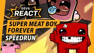 Super Meat Boy Forever Developer Reacts to 21 Minute Speedrun