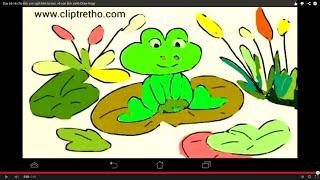 Dạy bé vẽ chú ếch con ngồi trên lá sen, vẽ con ếch xanh-Draw frogs