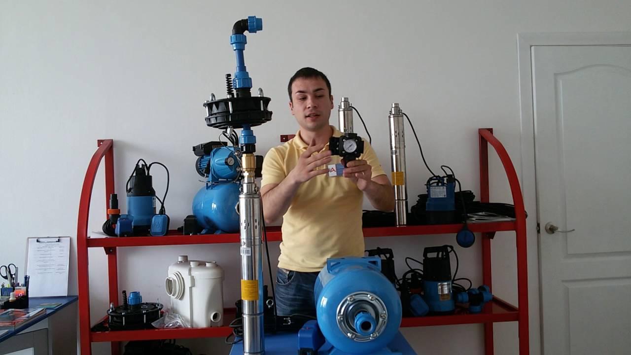 ►Подключение скважинного насоса к системе водоснабжения
