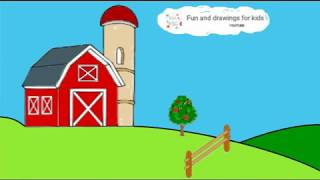 How To Draw A Barn - Old MacDonald Had A Farm