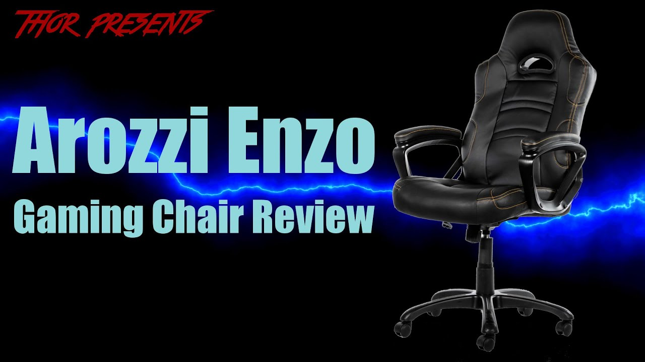 Gaming Chair Review Arm Covers For Recliners Arozzi Enzo Youtube