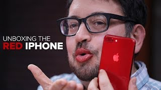 Unboxing the red iPhone 8 Plus