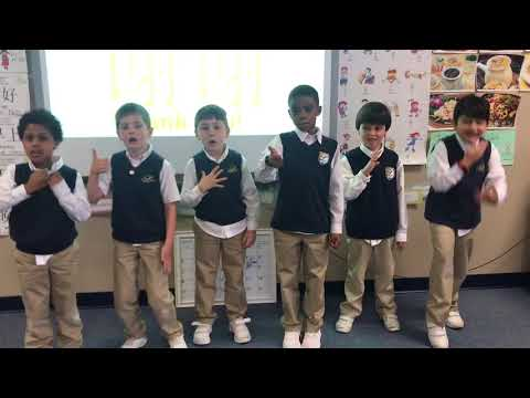 Lyndon Academy 1st grade singing Ni Hao ge