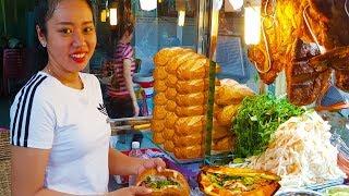 Hai chị em gái xinh đẹp bán bánh mì heo quay ngon và sạch ở Sài Gòn | street food