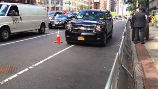 NYPD & UNITED STATES SECRET SERVICE ESCORTING DIPLOMATIC MOTORCADE DURING GENERAL ASSEMBLY MEETINGS.