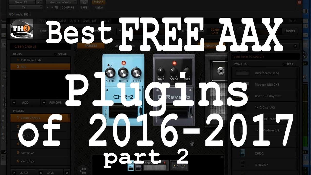 The free RTAS and AAX plugins list • ProToolerBlog