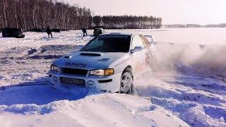 ЗЛАЯ SUBARU IMPREZA Sti Ra по глубокому снегу !