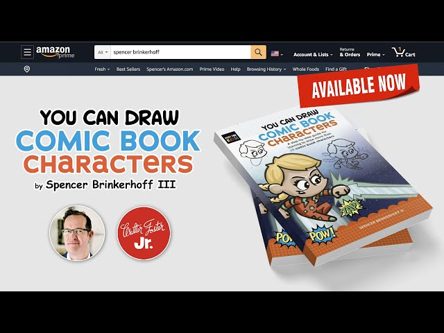 You Can Draw Comic Book Characters book trailer