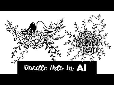 Illustrator Tutorials | Doodle Art Brushes , TL