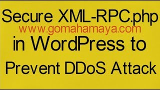 Secure XML-RPC.php in WordPress to Prevent DDoS Attack Mp3