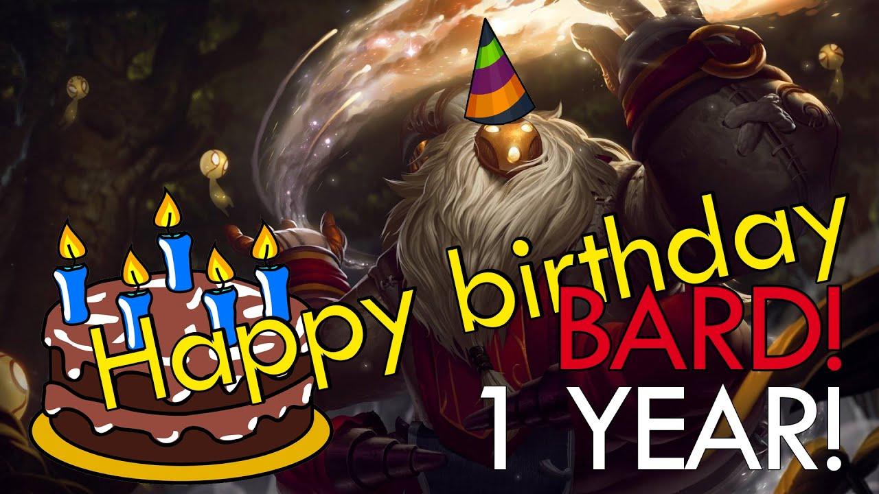 Happy Birthday Bard League Of Legends Youtube