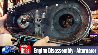 Norton Atlas Project – Shep – Engine Disassembly - Part 8 Help with Belt drive & Alternator setup
