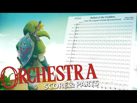 "Zelda: ""Ballad of the Goddess"" - Orchestral Cover - Score & Parts"
