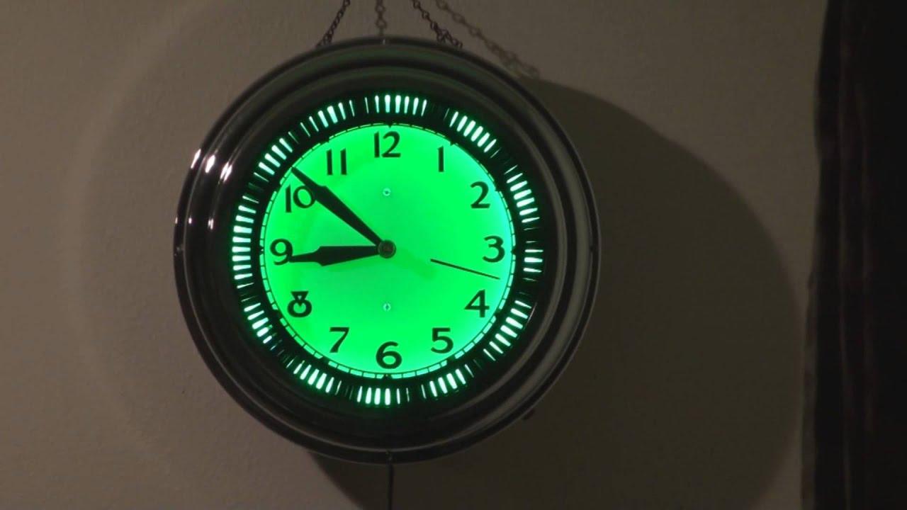 Spinner Neon Clock Youtube