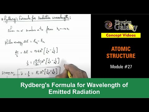 27. Physics | Atomic Structure | Rydberg's Formula for Wavelength of Emitted Radiation