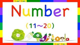 Let's count from 11 to 20 Sweet Dinosはお子さんたちに楽しんで数字を...