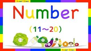 Let's count from 11 to 20 英語で数を数える 11から20まで数えてみよう! 数字の歌と一緒に練習してね 数字の勉強 子供のための知育ビデオ