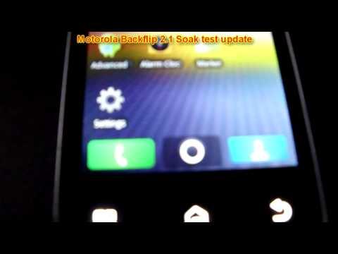 Motorola Backflip 2.1 soak test update: Final release is out, link in description