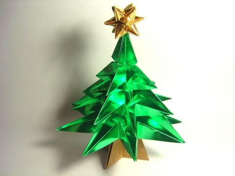 Origami Christmas Tree (NO glue!)