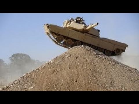 M1A1 Abraham tank in ACTION.