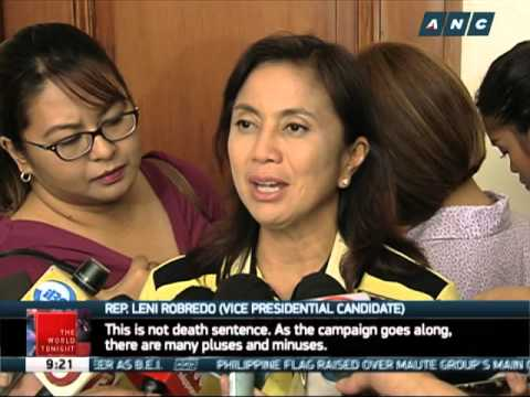 Santiago to continue with pres'l bid despite low ratings