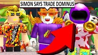 SIMON SAGT, TRADE YOUR DOMINUS!! (Roblox MM2)