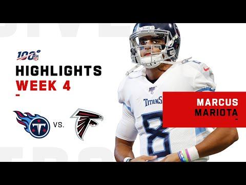 Marcus Mariota's Big 3-TD Day Vs. Falcons    NFL 2019 Highlights
