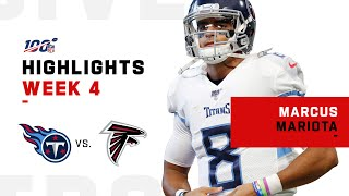 Marcus Mariota's Big 3-TD Day vs. Falcons | NFL 2019 Highlights