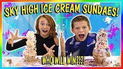 SKY HIGH ICE CREAM SUNDAE CHALLENGE | We Are The Davises